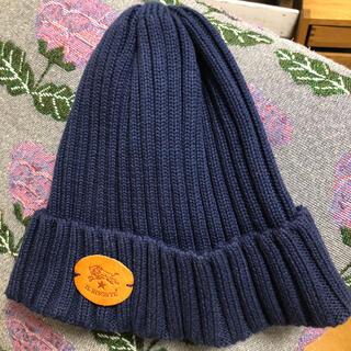 イルビゾンテ(IL BISONTE)のイルビゾンテ ⭐︎ニット帽 ネイビー(ニット帽/ビーニー)