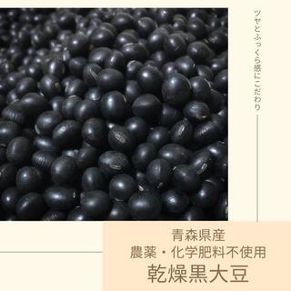 【農薬・化学肥料不使用】乾燥黒大豆 約500g 青森県産 2020年産(野菜)