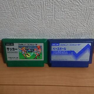 ファミコン カセット ソフト ベースボール サッカー(家庭用ゲームソフト)