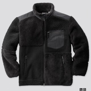 エンジニアードガーメンツ(Engineered Garments)の 【3XL】黒  ユニクロ × エンジニアドガーメンツ フリースジャケット(ブルゾン)