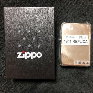 ジッポー(ZIPPO)のzippo 1941 REPLICA Platinum Plate(タバコグッズ)