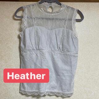 ヘザー(heather)のヘザー レース トップス(カットソー(半袖/袖なし))