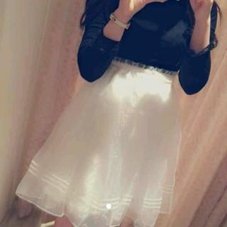 リズリサ(LIZ LISA)のリズリサ♡新作オーガンジースカート♡新品(ひざ丈スカート)