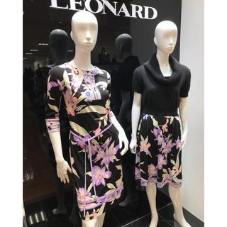 レオナール(LEONARD)のご成約済みです♡新品タグ付【LEONARD】2018年ニットワンピース(ひざ丈ワンピース)