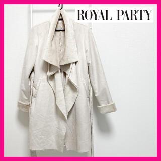 ロイヤルパーティー(ROYAL PARTY)のロイヤルパーティー コート ファー ロング フェイクファー ピンク(毛皮/ファーコート)