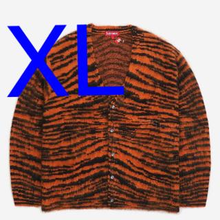 シュプリーム(Supreme)のsupreme Brushed Mohair Cardigan XL タイガー柄(カーディガン)