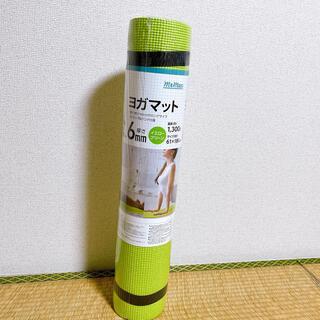 新品未使用 ヨガマット 6mm イエローグリーン(ヨガ)