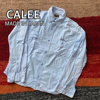 キャリー(CALEE)のCALEE キャリー ワーク ネルシャツ 日本製 L(シャツ)