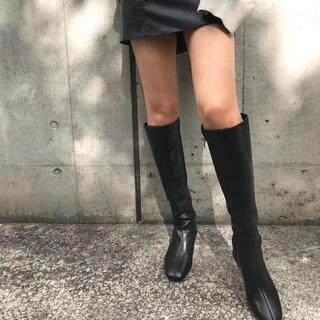 レザーロングブーツ(ブーツ)