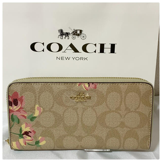 コーチ(COACH)の【大人気】新品 花柄COACH 長財布 レディース(財布)