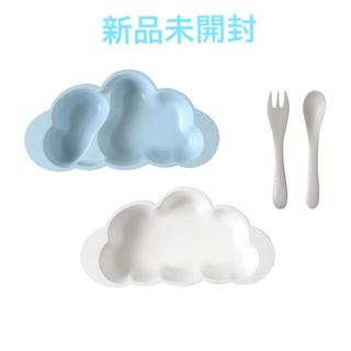 ベビービョルン(BABYBJORN)の10moisディモワ新品未開封マママンマプレートセット青ブルーベビー食器(離乳食器セット)