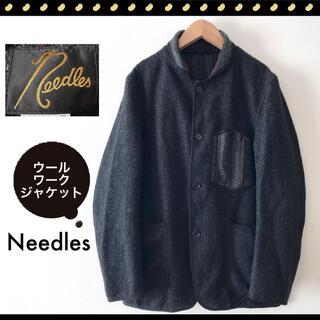 ニードルス(Needles)のNeedles★ニードルス★ウール★ワークジャケット★ネイティブストライプ切替(カバーオール)