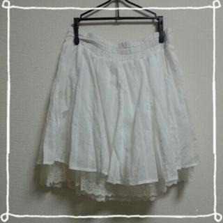 ジエンポリアム(THE EMPORIUM)のTHE EMPOLIUM 白 スカート(ひざ丈スカート)