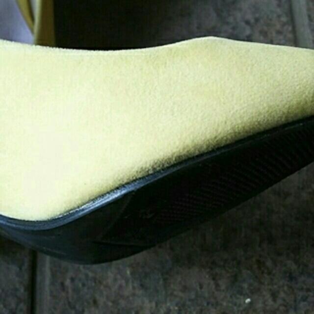 アミアミパンプス37レモンイエロー レディースの靴/シューズ(ハイヒール/パンプス)の商品写真