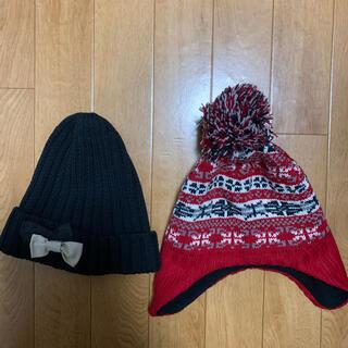 ジーユー(GU)の子供ニット帽(2点セット)(帽子)