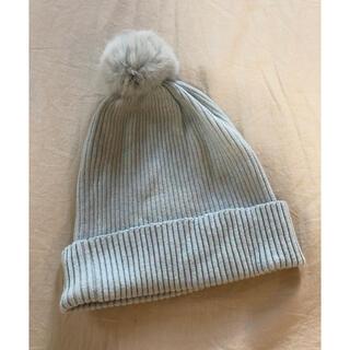 スナイデル(snidel)の未着用♡snidelニット帽 ラビットファー(ニット帽/ビーニー)