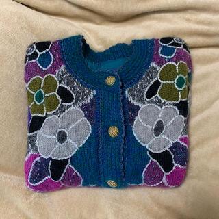 サンタモニカ(Santa Monica)のknit cardigan  vintage  古着 ニット カーディガン(カーディガン)