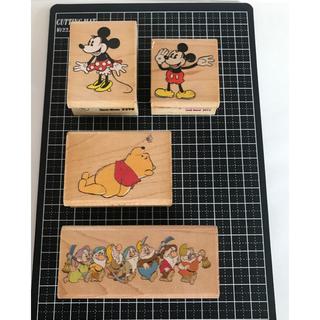 ディズニー(Disney)のディズニーラバースタンプ・ミッキーミニー・プーさん・7人の小人(印鑑/スタンプ/朱肉)