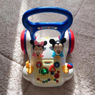ディズニー(Disney)のディズニー あっちこっちメリーポップ ミッキー ミニー 歩行器 手押し車(手押し車/カタカタ)