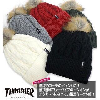 スラッシャー(THRASHER)のTHRASHER スラッシャー ニット帽 ニットキャップ ビーニー 新品 N59(ニット帽/ビーニー)