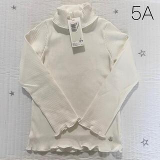 プチバトー(PETIT BATEAU)の新品未使用  プチバトー  リブ  タートルネック  Tシャツ  5ans(Tシャツ/カットソー)