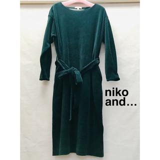 ニコアンド(niko and...)のニコアンド ベロアワンピース (ひざ丈ワンピース)