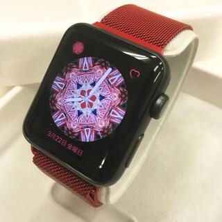 アップルウォッチ(Apple Watch)のApple Watch シリーズ3 GPSモデル 42mm アップルウォッチ 黒(その他)