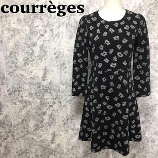 クレージュ(Courreges)のクレージュ 花柄 フレアスカート ワンピース サイズ40 M(ひざ丈ワンピース)