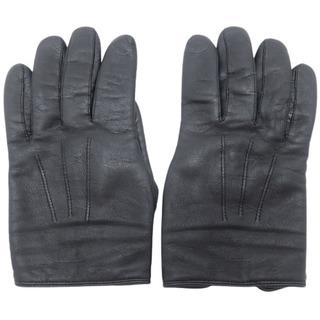 ルイヴィトン(LOUIS VUITTON)のルイヴィトン 手袋 レザーグローブ ラムスキン ブラック 40800059854(手袋)