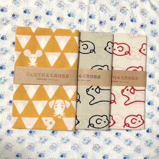 ハグオーワー(Hug O War)のCloth&cross ネズミ柄3種 かまわぬ 手ぬぐい てぬぐい(ハンカチ)