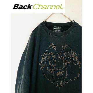 バックチャンネル(Back Channel)の【Back channel】バックチャンネル  スウェット ブラック XLサイズ(スウェット)