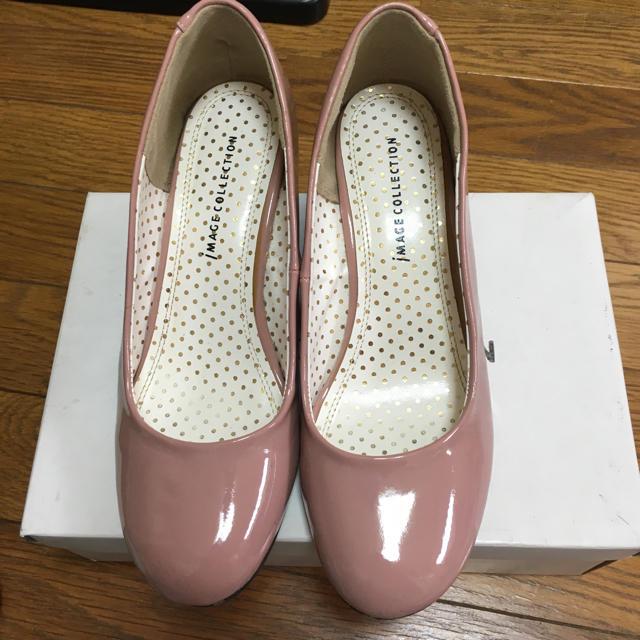 IMAGE(イマージュ)のピンクパンプス24センチ レディースの靴/シューズ(ハイヒール/パンプス)の商品写真