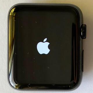 アップルウォッチ(Apple Watch)の新品 Apple Watch ステンレス ブラック 42mm サファイアガラス(腕時計(デジタル))