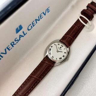 ユニバーサルジュネーブ(UNIVERSAL GENEVE)の美品 UNIVERSAL  GENEUE   レディース手巻き時計  稼動 箱付(腕時計)