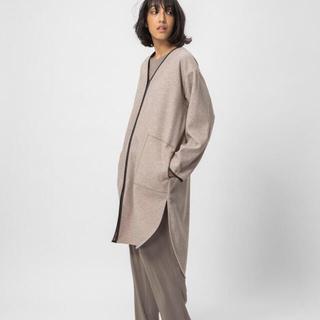 ダブルスタンダードクロージング(DOUBLE STANDARD CLOTHING)の今期✨ 美ライン✨カッコいい❣️春先にも✨WOOLLET オートミール  (ロングコート)