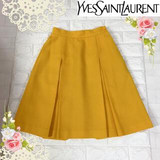 サンローラン(Saint Laurent)のイヴ・サンローラン(S)上品な黄色のスカート(ひざ丈スカート)