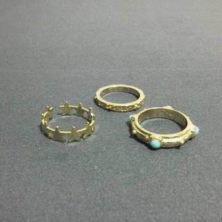 スリーコインズ(3COINS)のリングセット(リング(指輪))