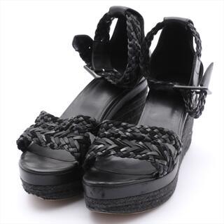エルメス(Hermes)のエルメス  レザー  ブラック レディース その他靴(その他)