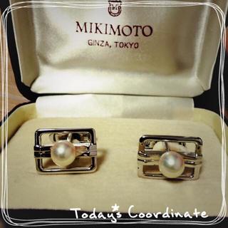 ミキモト(MIKIMOTO)の本物❇︎ミキモト真珠❇︎カフスボタン(カフリンクス)