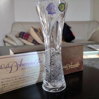 ボヘミア クリスタル(BOHEMIA Cristal)のボヘミアガラス♡一輪挿♡花瓶(花瓶)