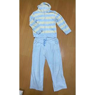 もこもこパジャマ ふわふわ 水色 ブルー(ルームウェア)