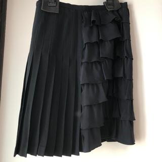 モスキーノ(MOSCHINO)のモスキーノアシンメトリースカート42(ひざ丈スカート)