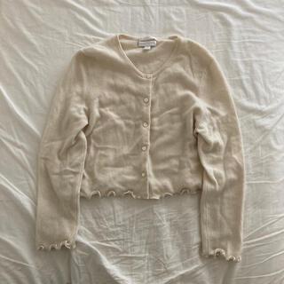 エディットフォールル(EDIT.FOR LULU)のvintage 裾メロウ カシミアカーディガン(カーディガン)
