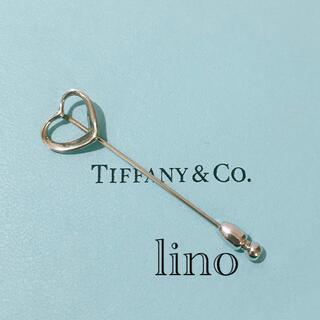 ティファニー(Tiffany & Co.)のレア 美品 ティファニー Tiffany ブローチ オープンハート アクセサリー(ブローチ/コサージュ)