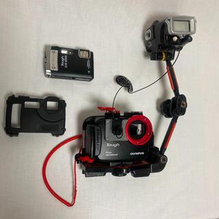 オリンパス(OLYMPUS)の水中カメラ ハウジング フラッシュ 全部セット ダイビング オリンパス(マリン/スイミング)