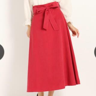 ストロベリーフィールズ(STRAWBERRY-FIELDS)のウエストリボン スカート(ロングスカート)