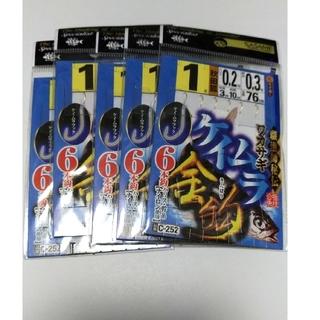 【新品】ササメ ワカサギ仕掛け ケイムラ金針仕様 1号6本針 5枚セット(釣り糸/ライン)