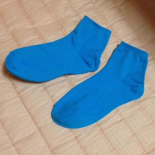 靴下×ブルー(ソックス)
