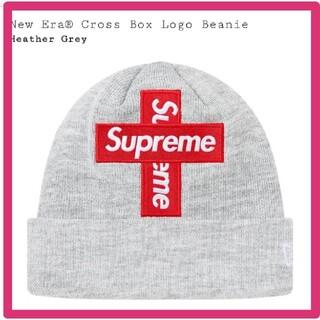 シュプリーム(Supreme)のgray New Era Cross Box Logo Beanie(ニット帽/ビーニー)