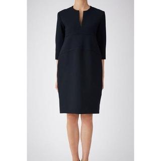 ドゥロワー(Drawer)の【YOKO CHAN】Long-sleeve Slit-line Dress(ひざ丈ワンピース)